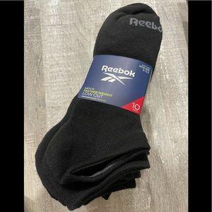 Reebok Men's Low Cut Socks Black Size 6-12.5 10Pk